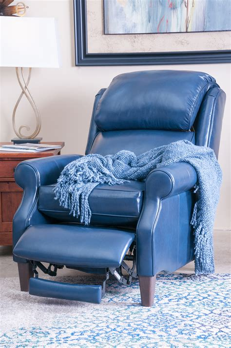 Sofa Exciting Blue  Ee  Reclining Ee   Sofa Leather Furniture For