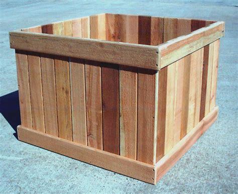 large cedar planter box plans plans free