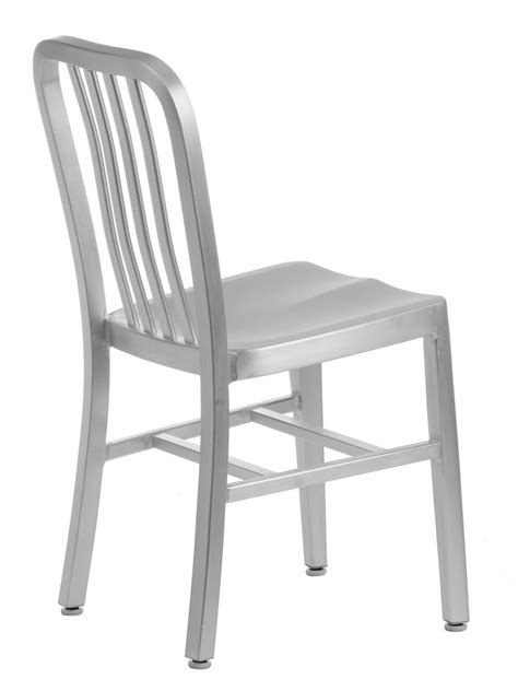 aluminum restaurant navy style chair brushed