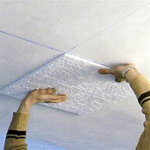 Faux plafond collé Rénover en image