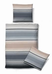 Bettwäsche Grau 155x220 : biberna sofft seersucker bettw sche grau gestreift 2 cm ebay ~ Frokenaadalensverden.com Haus und Dekorationen