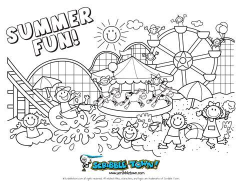 summer coloring pages  older kids  large images
