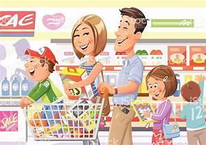 Family Shopping In Supermarket Stock Vector Art & More ...