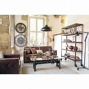 Table Basse Metal Verre : table basse indus en verre et m tal l 135 cm garibaldi maisons du monde ~ Mglfilm.com Idées de Décoration