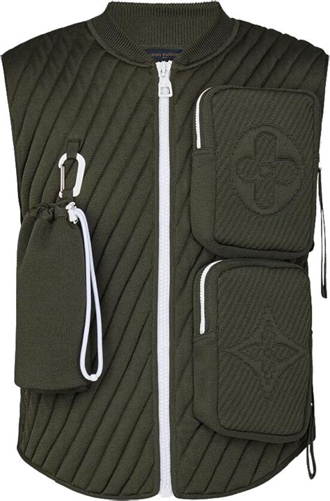 louis vuitton dark green quilted utility vest incorporated style