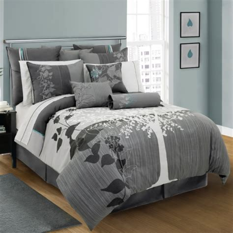 aluna 4 piece queen size comforter set by lawrence