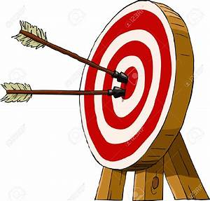 Target clipart kid archery - Pencil and in color target ...