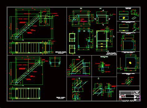 metal stairs dwg block  autocad designs cad