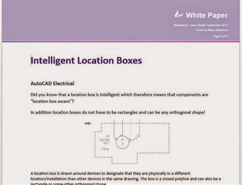autocad electrical intelligent location boxes cadline community