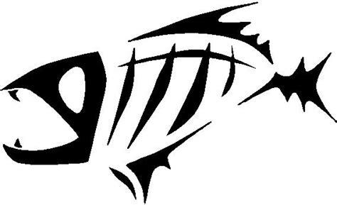 Piranha Tribal Fish Skeleton