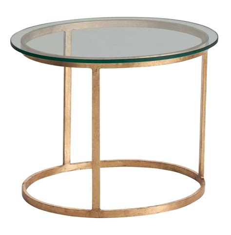 glass and iron table ansel contemporary iron glass topped gold leaf oval end table