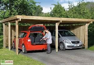 Garage 2 Voitures : carport bois optima duo 2 voitures plusieurs tailles ~ Melissatoandfro.com Idées de Décoration