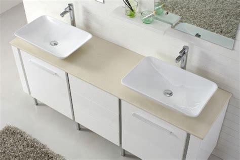 Catalan-contemporary Double Basin White Vanity