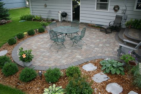 bloomington back yard patio project traditional patio