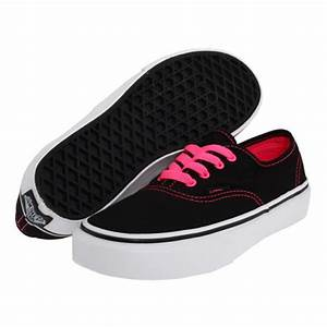 Vans Authentic Womens Shoes Neon Black Pink New Sample UK ...