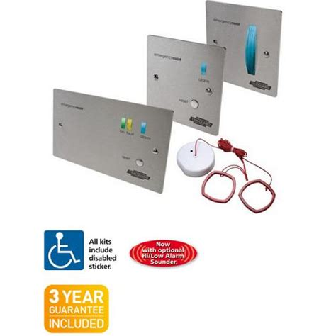 timeguard eassszk emergency assist alarm system kit stainless 1 zone disabled toilet alarm
