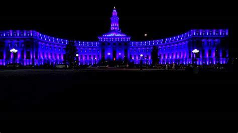 denver city and county building christmas light show youtube