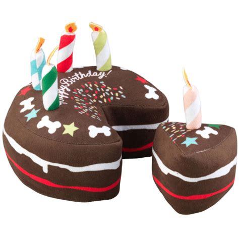 house  paws birthday cake slice dog toy