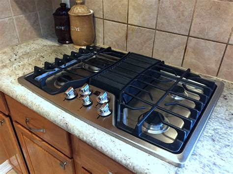 gas stove downdraft cooktop range kitchen down countertop vent cooktops stoves wolf interior kenmore homesfeed simple amazing appliance sears natural
