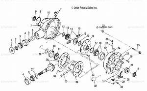 Polaris Side By Side 2005 Oem Parts Diagram For Rear Gearcase  4x4  R05rb50aa  Rd50aa  Ab  Ac  Ad
