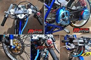 Tips Motor   Modifikasi Drag Bike Mio J  Teknologi Injeksi Matik 200  Lumayanlah