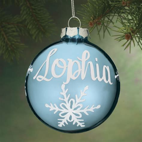 personalized birthstone glass ball ornament miles kimball
