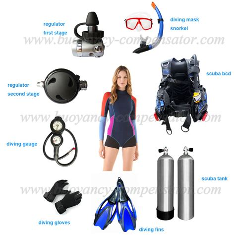 Dive Equipment Set Of Scuba Gear And Diving Equipments For Scuba Divers