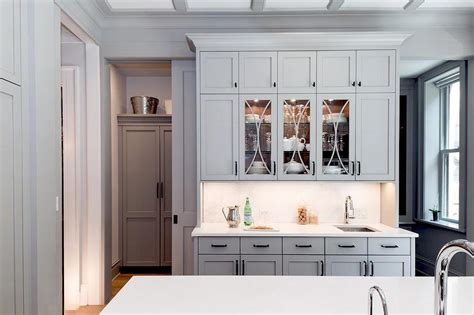 used kitchen pantry cabinet pantry design with glass front butler s top cabinets 6738