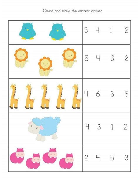 math worksheets for preschool the math best free