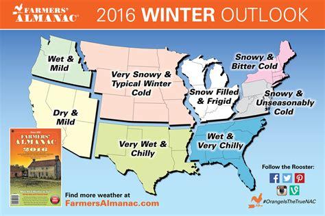 farmers almanac 2016 farmers almanac releases national winter 2016 winter prediction dry in the west