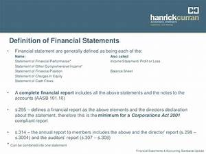 financial statements accounting standards update sept 2012 With financial documents definition