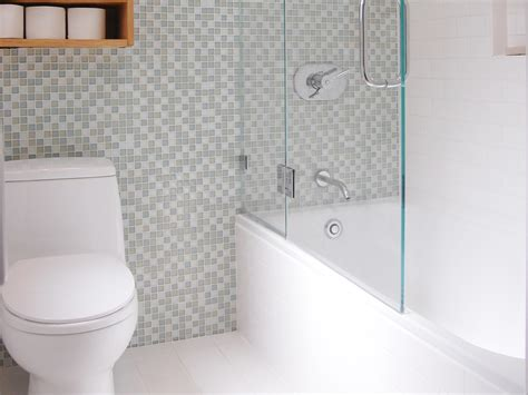 bathroom with mosaic tiles ideas bathroom glass enclosure with tub shower and mosaic tile