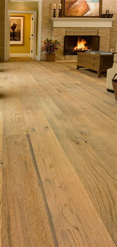 Wire brushed White Oak Floor, available as prefinished and