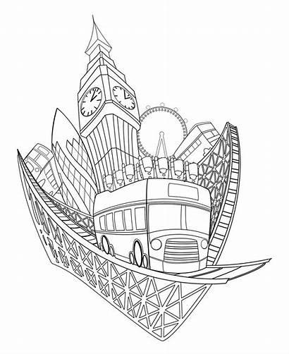 Gherkin Theme Park Drawing Eye Tour Flip