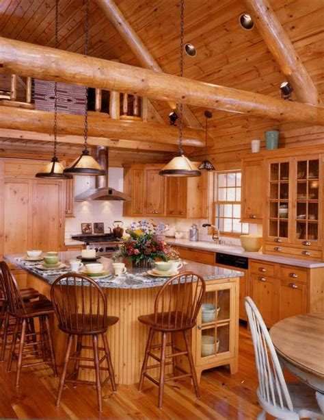 log cabin kitchen images log cabin kitchen i want a log home