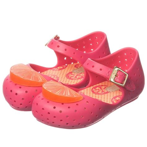 mini melissa pink jelly shoes  orange slice children