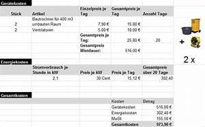 Stromverbrauch Eines Gerätes Berechnen : bautrocknungsratgeber ~ Themetempest.com Abrechnung