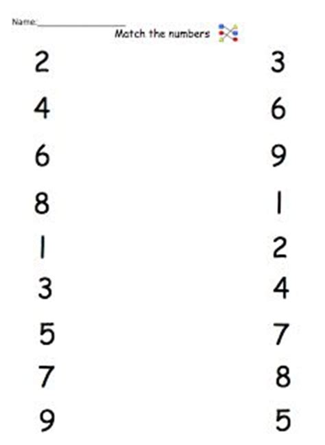 Matching Numbers To Numbers Worksheets  Math Ideas  Pinterest  Worksheets, Math And Math