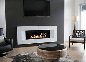 Concrete Fireplace Surrounds - Contemporary - Living Room