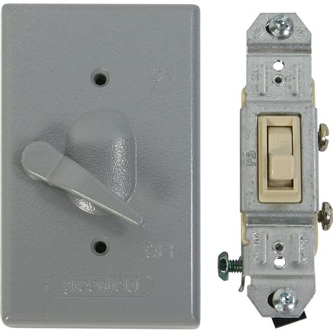 outdoor light switch greenfield weatherproof electrical box lever switch cover