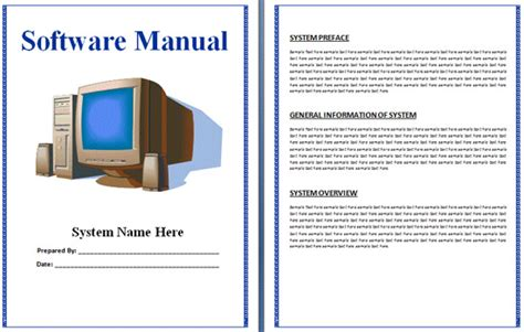 instruction manual templates word excel formats