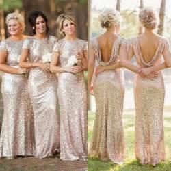 sequin dress bridesmaid chagne gold bridesmaid dresses sequined sleeve floor length bridesmaid dress 2015