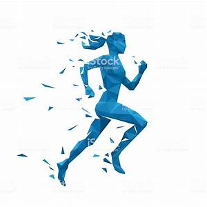 Active Running Woman Vector Illustration Energy Jogging ...