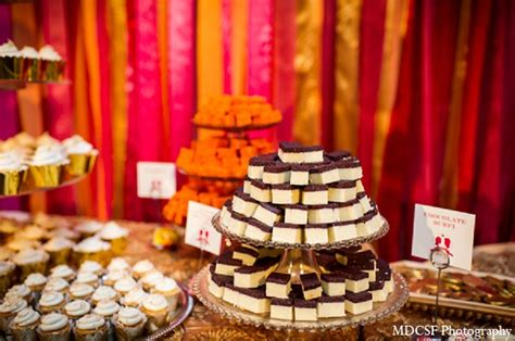 indian wedding reception desserts treats photo