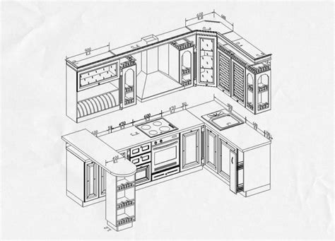 Modular Kitchen Design Drawings  Home Design And Decor