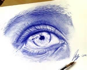 Blue Ballpoint Pen Sketch