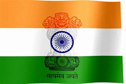 India Flag Emblem Waving Country Republic Flags