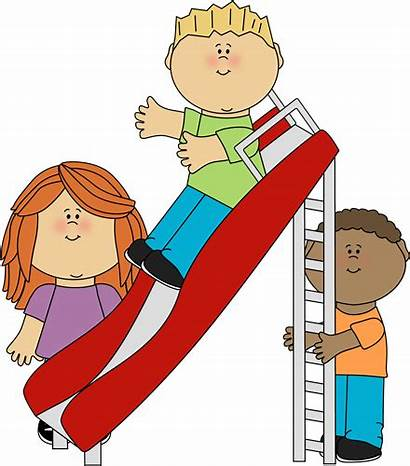 Recess Playground Clip Clipart Playing Slide Clipartpanda