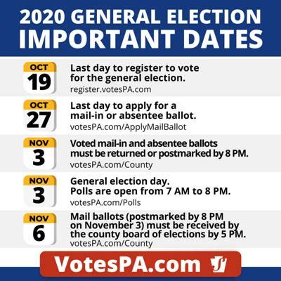 Monday is last day to register to vote in the Nov. 3 ...