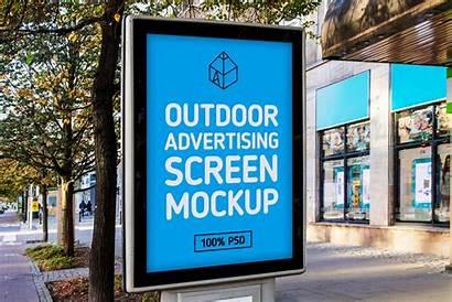 Mockup Outdoor Mock Advertising Screen